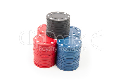 Pyramid of poker coins