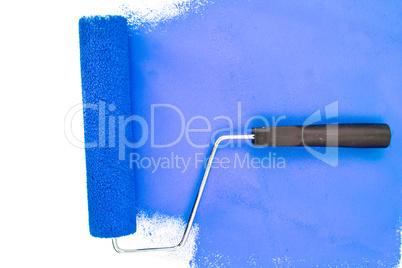 Horizontal blue brush stroke