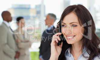 Executive woman talking on the cell phone