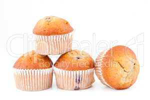 Muffins piled up together