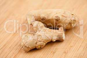 Piece of ginger on a worktop