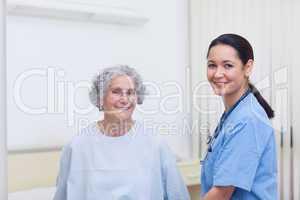 Nurse assisting a patient