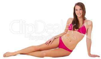 Attraktives Mädchen im Bikini