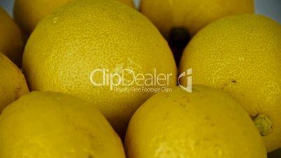 A set of fresh lemon fruit vegetables.