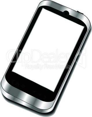 Abstract touchscreen smart phone - 3d business phone