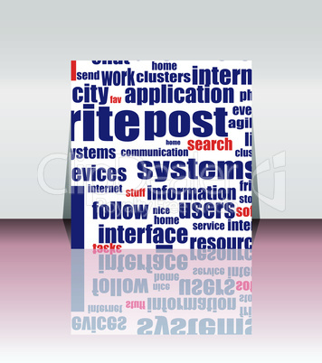 Word cloud social network. internet. community. flyer or cover