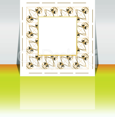 Abstract presentation of flyer design with empty frame. content background