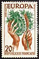 Postage stamp France 1957 Peace and Prosperity