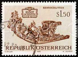 Postage stamp Austria 1972 Racing Sleigh