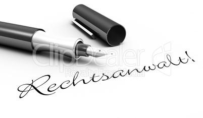 Rechtsanwalt! - Stift Konzept