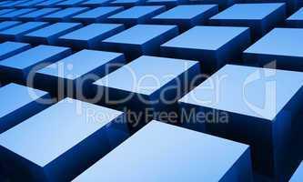 Quader Matrix diagonal blau weiß 04