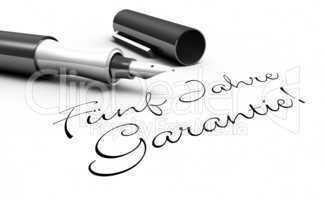 Fünf Jahre Garantie! - Stift Konzept