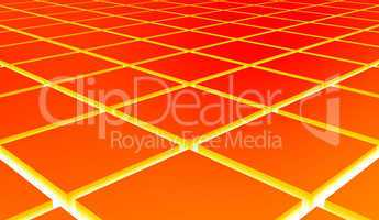 3D Struktur - Orange Quader