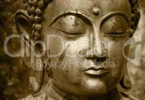 Grunge Buddha Foto - Abgeblätterte Farbe