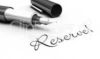 Reserve! - Stift Konzept