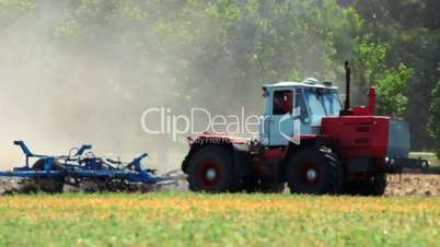 agriculture and tractor