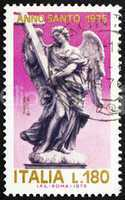Postage stamp Italy 1975 Angel with Cross