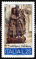Postage stamp Italy 1973 The Tetrarchs, 4th Century Sculpture