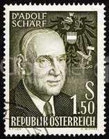 Postage stamp Austria 1960 Adolf Scharf, 6th President of Austri