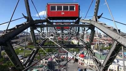 Skyline Vienna from the historic Ferris Wheel