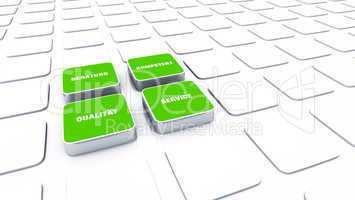 Quader Konzept Grün - Beratung Kompetenz Qualität Service 9