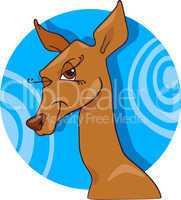 cute doe or roe cartoon character