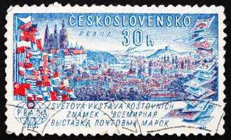 Postage stamp Czechoslovakia 1962 View of Prague