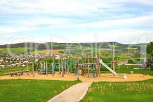 Children's play area outside