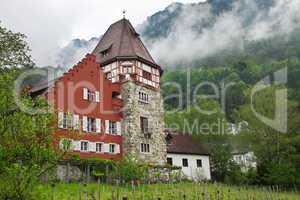 Old house in the Principality of Liechtenstein
