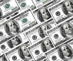 Set of dollars, money background