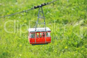 Cable car in Films Switzerland during the summer