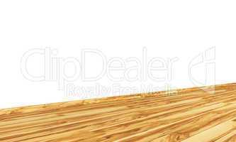 Wand mit Holzboden diagonal - Olivenbaum