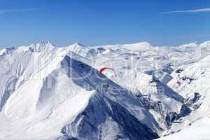 Speed riding in Caucasus Mountains