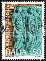 Postage stamp Italy 1974 Bas-relief from Ara Pacis