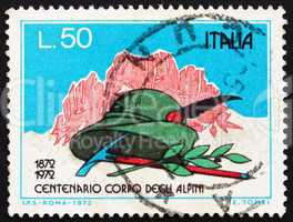 Postage stamp Italy 1972 Mountains, Alpinist's Hat, Pick and Lau