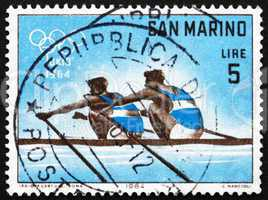 Postage stamp San Marino 1964 Dual Rowing, 18th Olympic Games, T