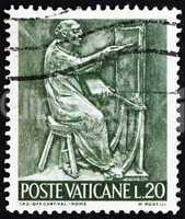 Postage stamp Vatican 1966 Painter, Bas-relief by Mario Rudelli
