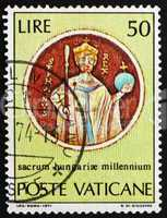 Postage stamp Vatican 1971 St.Stephen, from Chasuble