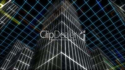 City wire loop (shot 3 of 3). Ciudad de lineas (toma 3 de 3).