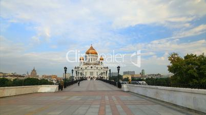 Cathedral Christ Saviour motion timelapse , Moscow, Russia