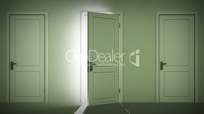 Doors opening and closing looped animation.
