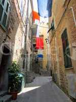 Village in Liguria on Italian Coast