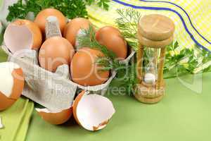 Egg Timer With Eggs