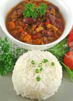 Rice Stack Chili Con Carne