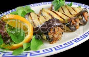 Aubergine And Beef Rolls