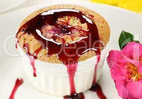 Blackberry Sponge Pudding