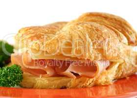 Ham And Cheddar Croissant