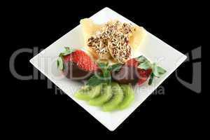 Choc Bananas And Strawberries 1