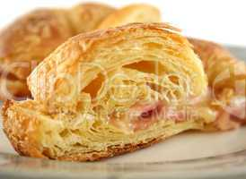Melted Cheese And Ham Croissant