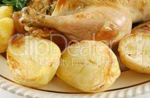 Chicken Drumstick And Potatoes